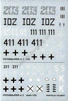 Decals Photosniper nr 2 - STUG III Ausf. G - Photosniper nr 3 PANZER III Ausf. L/M - Panzer III AUSF. J/L/M