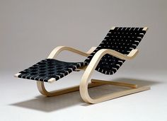 Black & blond chair