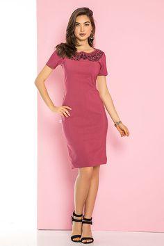 Vestido Marsala - Raje Jeans - Moda Evangélica e Roupa Evangélica: Bela Loba