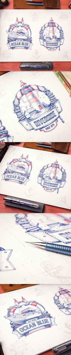 Badges & Illustrations on Behance