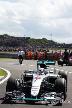 Race winner Lewis Hamilton, Mercedes AMG Hybrid celebrates parc ferme to Silverstone Mercedes Amg, Mercedes Lewis, Formula 1, Nascar, Stock Car, F1 Motorsport, Amg Petronas, Lewis Hamilton, F1 Racing