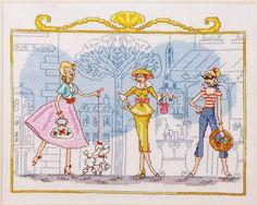 Portal do Ponto Cruz: Moda Vintage