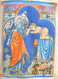 The sacrifice of Isaac.
