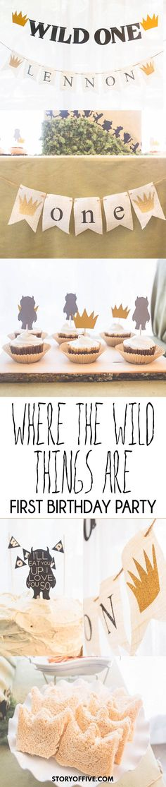Where The Wild Things Are First Birthday Party