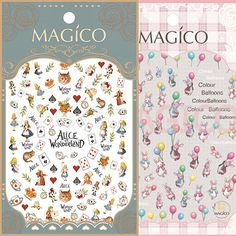See detail Alice and petter rabbits 2 DESIGNS Newest 1  MAGICO series 3d nail art stickers nail art decal stampingwholesale