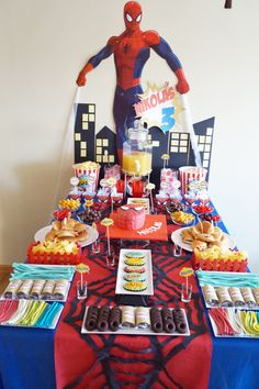 Mesa Dulce Spiderman