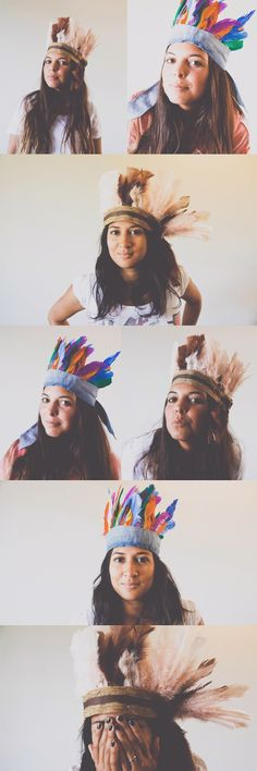 DIY Feather Crown