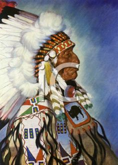 iCLIPART - Vintage Illustration of an American Indian Chief