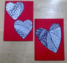 Anna idean kiertää!: Tutustuimme zentanglen maailmaan Valentines Art, Valentine Day Cards, Zentangle, Holiday, Crafts, Painting, Fine Motor, Murals, Manual