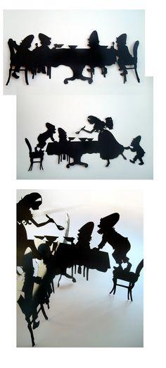 Sonja Egger macht Scherenschnitt von Schneewittchen und die sieben Zwerge   Sonja Egger, Illustration, Handgemachtes, Bastelanleitungen