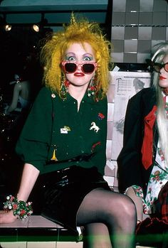 Cyndi Lauper- have always wanted to party with her... Muse #cyndilauperhair