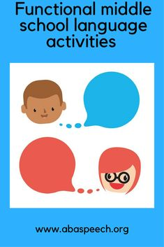 Middle school language activities that are fun and functional. Help students generalize language skills to the larger school environment. This blog is a must!