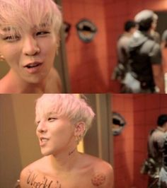 GD Jiyong / G Dragon ♡ #Crayon #Kpop #BigBang BECAUSE WHO DOESN'T WANT TO BE IN THE BATHROOM WITH JI?? LOL