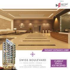 Swiss Boulevard Postal Colony, Chembur Elegant Entrance Lobby www.metrogroupindia.com #metrogroupindia #SwissBoulevard #chembur #metrogroup #mumbai #realestate #luxury #luxurioushouse #property #homesellers #bestexperience