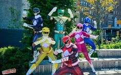 Power Rangers--I like how they're all wearing Bat in the Sun's designs on their outfits. #SonGokuKakarot