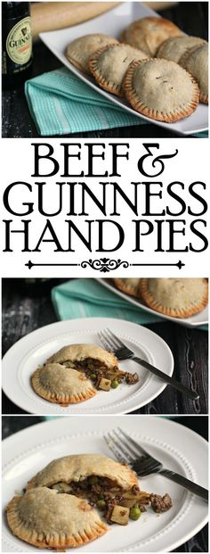 Beef and Guinness Hand Pies are a delicious twist on the traditional Beef and Stout pie from the UK. This is a great St. Patrick's Day Recipe your family will love eating for dinner!