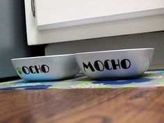 Customize the personalized pet bowl with pet's name, pictures or any other designs you like for your beloved pet.