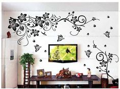 "Cheap decorative tile stickers, Buy Quality decor directly from China stickers elmo Suppliers:Free Shipping 19.6"" x 27.5""Tree Branch Birds DIY Removable Art Vinyl Quote Wall Sticker Decal Mural Home decoration US $"