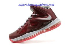 best website 4b903 549e0 an aesthetic appreciation of the Nike LeBron X Crown Jewel Metallic Silver  Bright Red