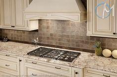 bianco antico granite with tile backsplash - Google Search