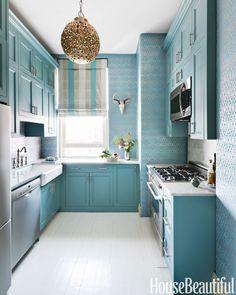 Resultado de imagem para blue kitchen