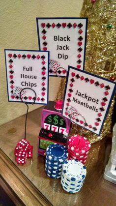 Casino party food menu