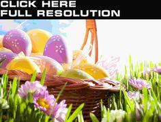 Праздники Пасха Яйца Корзинка Трава