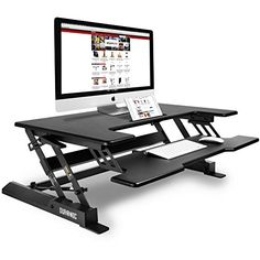 buy now   									£299.99 									  									 This Duronic sit and stand workstation will change the way you work! The workstation just sits on top of your current desk and allows you to work comfortably  ...Read More