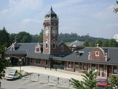 Greensburg, PA : Greensburg's train station - seton hill in background