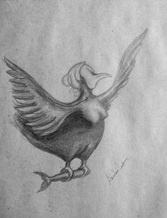 #pájaro #sirena #dibujoalapiz #AriankaLopez #desafiodia3