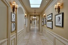 I love the family photo gallery down this hallway