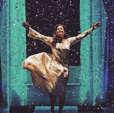 Shooting stars/New shapes and sizes/Wakenings and new surprises/Opening my eyes to something happening Laura Michelle Kelly as Sylvia Llewelyn Davies in Finding Neverland