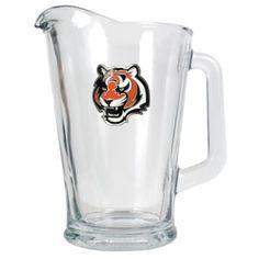 Cincinnati Bengals 60oz Glass Pitcher - Primary Logo