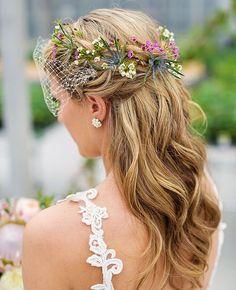Wedding Half-up Updo | Phrene Exquisite Photography | Blog.theknot.com