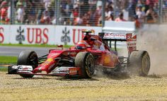Ferraris Kimi Raikkonen off the track, third practice session. Melbourne GP