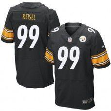 NFL Mens Elite Nike  Pittsburgh Steelers #99 Brett Keisel Team Color Black Jersey$129.99