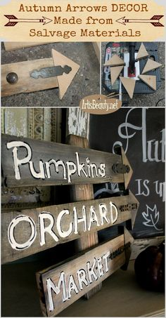 ART IS BEAUTY: Autumn Rustic Arrow Decor made from Salvage and Repurposed Materials
