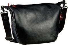 Mandarina Duck Mellow Leather Umhängetasche Black (innen: Rosé) - Umhängetasche