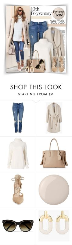 """""""#719 - Celebrate Our 10th Polyversary! (Trend - Neutrals)"""" by lilmissmegan ❤ liked on Polyvore featuring Topshop, MANGO, Diane Von Furstenberg, Longchamp, Marc Fisher LTD, Essie, Chloé and Chico's"""