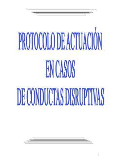 PROTOCOLO DE ACTUACIÓN EN CONDUCTAS DISRUPTIVAS