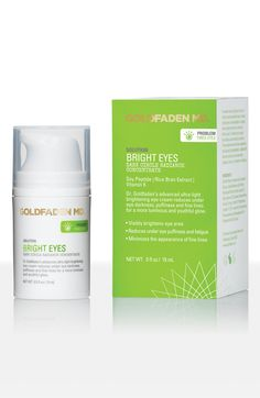 Goldfaden MD Bright Eyes. This has been really great for my under eye circles & also for moisture. Cover up goes on nice over it, too. My daily go to. Doesn't irritate my eyes.
