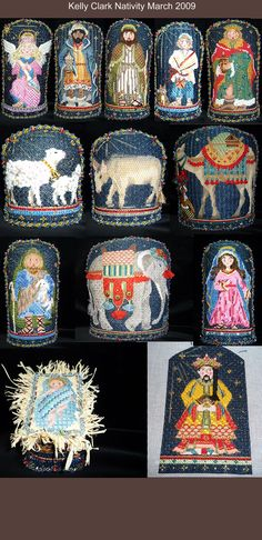 Chaparral Needlepoint -- Merry Christmas Kelly Clark Nativity
