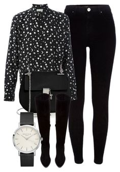"""""""Untitled #6033"""" by laurenmboot ❤ liked on Polyvore featuring River Island, Yves Saint Laurent, Chloé and Zara"""