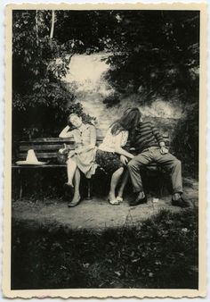 what would the girl on the left be thinking vintage postcard