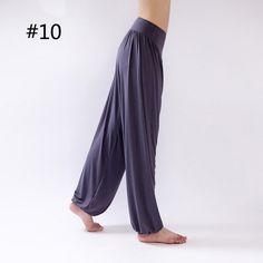 Women Comfy Harem Loose Long Pants Belly Dance Casual Boho Wide Trousers