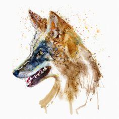 Coyote Head Art Print by MarianVoicu - X-Small Wall Art Prints, Fine Art Prints, Canvas Prints, Framed Prints, Animal Cushions, Watercolor Animals, Watercolor Portraits, Magazine Art, Art Auction