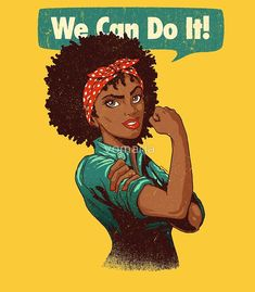 """We Can Do It! Black Girl Black Queen"" Canvas Prints by vomaria Art Black Love, Black Girl Art, My Black Is Beautiful, Black Girl Magic, Art Girl, Red Black, Black Girls Power, Black Girls Rock, Black Power"