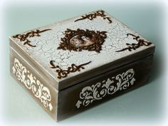 MEDUSSA Pudełko drewniane,szkatułka DUŻE - PREZENT