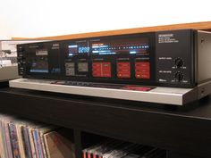 The legendary Aiwa AD-F990...soft touch logic controls on a horizontal 'ledge'....more lights than a funfair