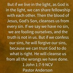 Confess to God and trust Him to do what is right!